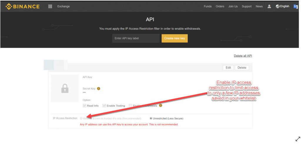 access to your API key